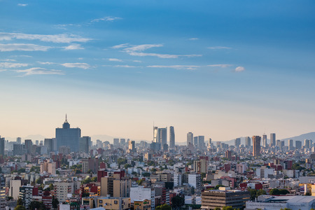 Panoramic view of Mexico City Imagens