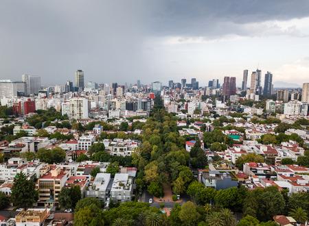 Mexico City panoramic view - Polanco Foto de archivo