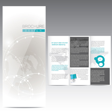shyness: Brochure Design with circles