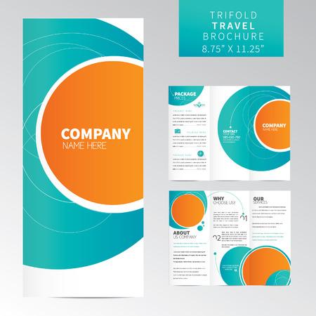 folleto: Plantilla Travel Folleto en tríptico Vectores