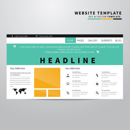 vector web design elements: Website Templates with Icons