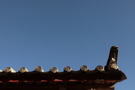 roofed house: Chinese folk architecture Stock Photo