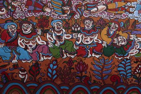 murals: Murals painting in Nakhi Editorial