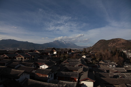 roofed house: Lijiang Ancient Town