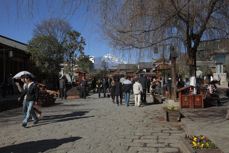 roofed house: Ancient town of Lijiang Editorial