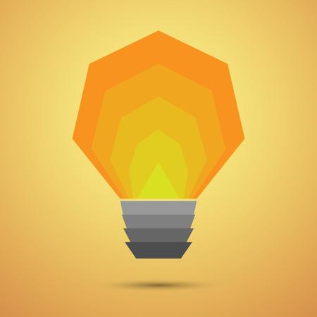 tungsten: Glowing light bulb