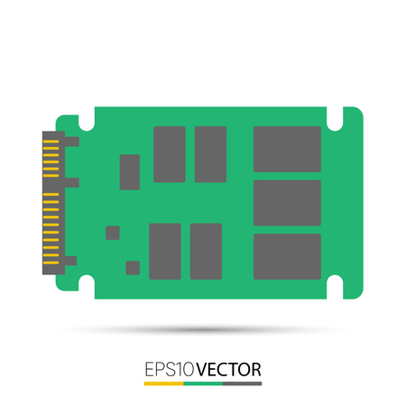 ssd: SATA solid state drive (SSD) Illustration
