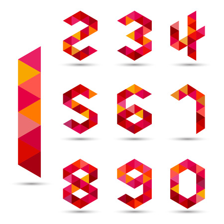 Numbers set in modern polygonal style.