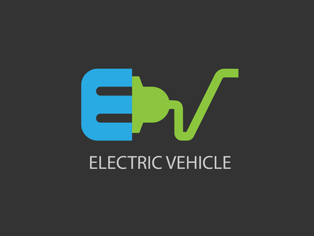 Electric vehicle icon design template