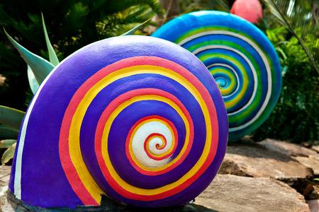 cochlea: colored spiral shape of the cochlea