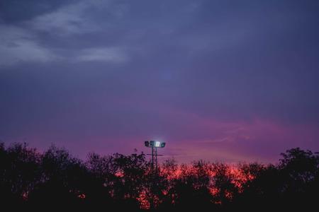 dimly: Evening sky see light dimly