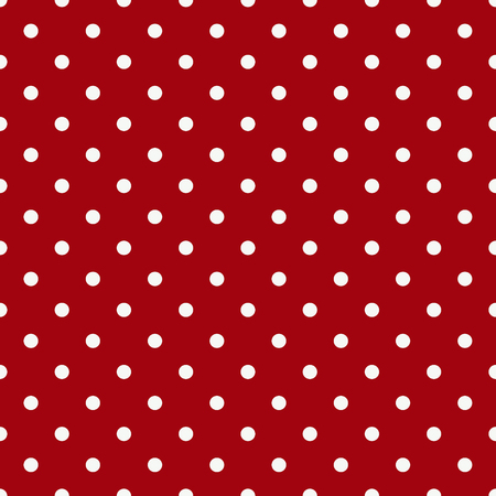 vintage background paper: white polka dot on red background Stock Photo