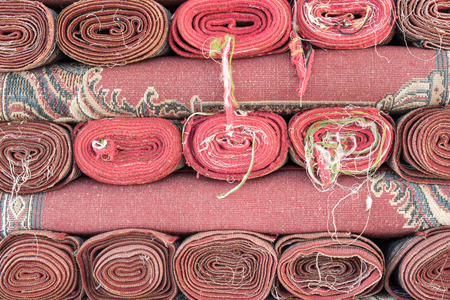 prayer rug: Close up of muslim prayer mat