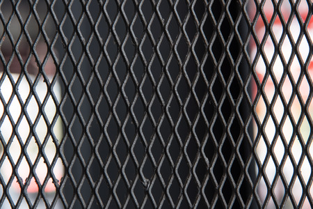 blue metal: close up of old iron net texture Stock Photo
