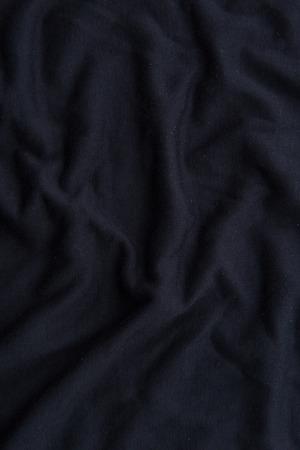 Close up of beautiful wrinkle black fabric texture. Reklamní fotografie