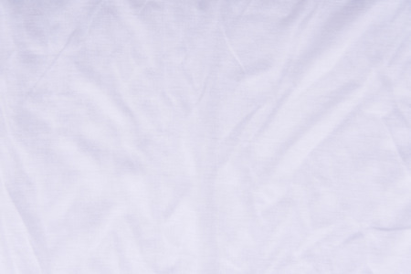 bedsheet: Close up of beautiful wrinkle white color bedsheet fabric texture.