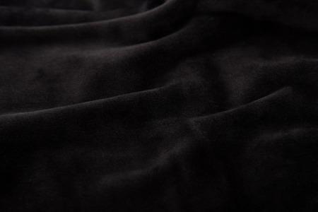 velvet texture: Close up of beautiful black velvet texture background. Stock Photo