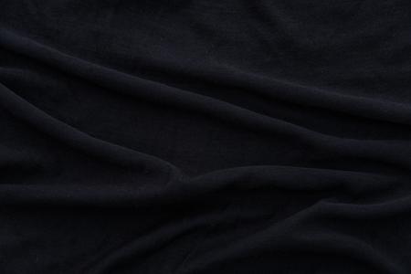 bedsheet: Close up of beautiful wrinkle black fabric texture. Stock Photo