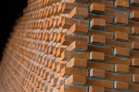 Close up of beautiful old brick wall textured. Stock Photo