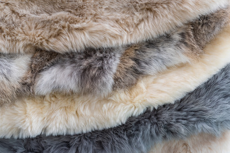 Close up of animal fur used for decoration cloth. Stok Fotoğraf