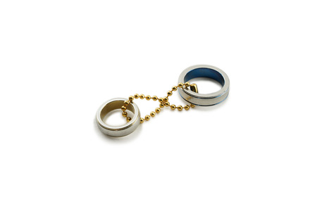 eternity: Chained couple rings representing a couples eternity love