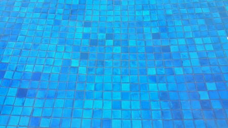 tile: Blue tile mosaics underneath swimming pool