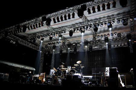 tambores: Etapa de luces  Foto de archivo