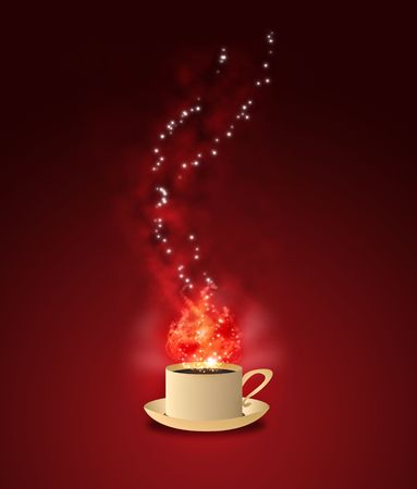 Magic Coffee - Red Stock Photo - 5993305