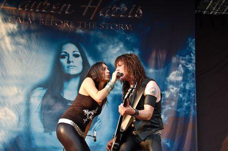 act of god: Bucharest - Romania, August 4 2008 - Lauren Harris Performing Live at Cotroceni Stadium