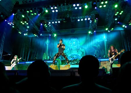 Bucharest - Romania, August 4, 2008 - Iron Maiden Performing Live at Cotroceni Stadium Editorial