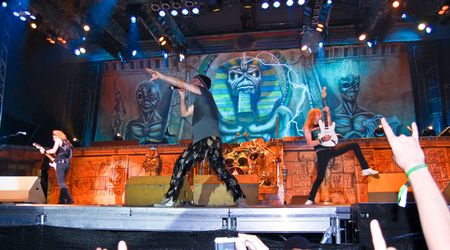 Bucharest - Romania, August 4, 2008 - Iron Maiden Performing Live at Cotroceni Stadium