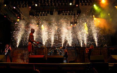 Bucharest - Romania, August 4, 2008 - Iron Maiden Performing Live at Cotroceni Stadium Editorial