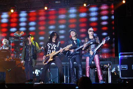 Craiova - Romania, October 23, 2008 - The Scorpions Performing Live at Craiova Velodrome Editorial