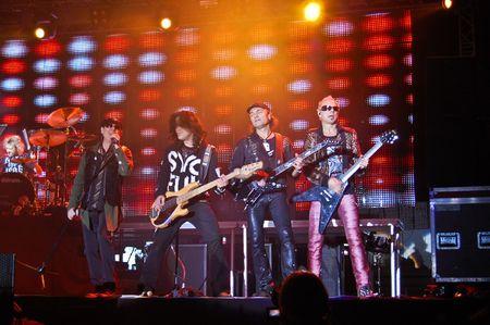 Craiova - Romania, October 23, 2008 - The Scorpions Performing Live at Craiova Velodrome Stock Photo - 6885706