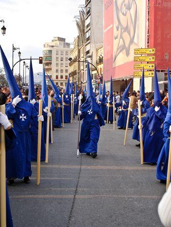 crucifiction: Malaga - Spain, April 4 2008 - Semana Santa ( Holy Week ) Procession Editorial