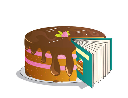 chocolate mousse: Recipe Book, eps8 with layers, easy to edit.