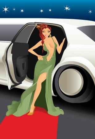 celebrities: Rode loper celebrity  Stock Illustratie