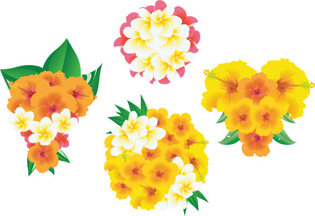 Four bouquets of flowers  Vector