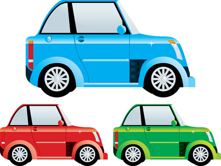smart woman: Mini car Illustration