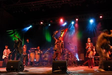 Bucharest - Romania, September 10, 2010 - El Negro Performing Live at Arenele Romane