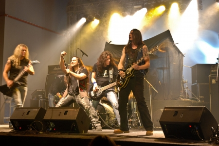 Bucharest - Romania, April 26, 2009 - Trooper Performing Live at Hala