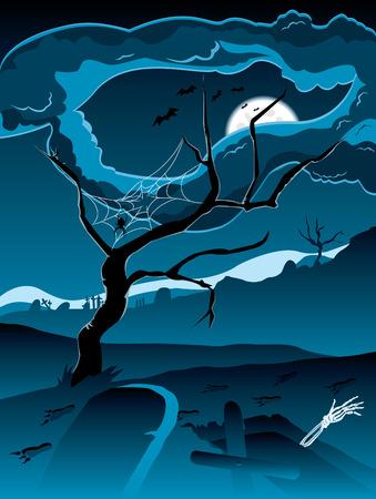 Graveyard ( blue version ) Stock Vector - 7885185