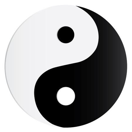 yang yin: Yin Yang s�mbolo  Vectores