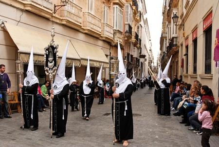semana santa: Cadiz - Spain, April 24, 2011 - Semana Santa (Holy Week) Procession