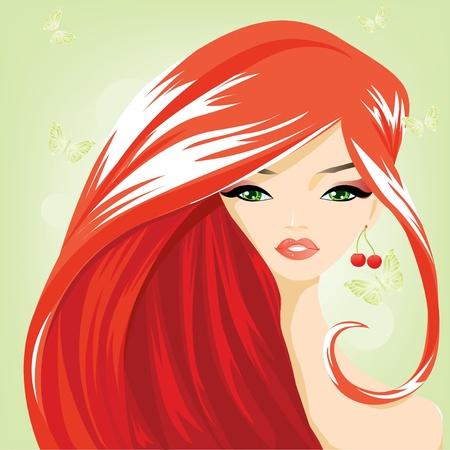 redhead woman: Ritratto di una fata bella estate