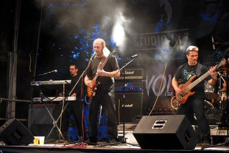 Constanta - Romania, June 11, 2011 - Bucovina perform live at Seawolves Bike Fest 4