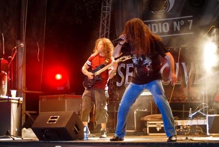 Constanta - Romania, June 11, 2011 - Symbolic perform live at Seawolves Bike Fest 4