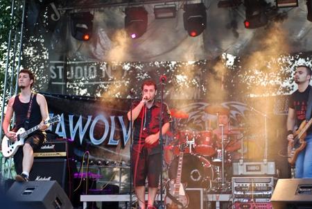 Constanta - Romania, June 11, 2011 - Incipient perform live at Seawolves Bike Fest 4