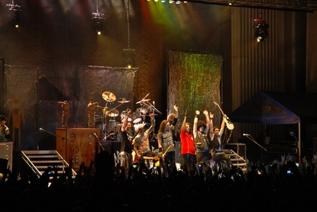 alice band: Bucharest - Romania, June 14, 2011 - Alice Cooper perform live at Arenele Romane Editorial