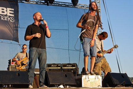 act of god: Targu Mures - Romania, August 27, 2011 - Subscribe Performing Live at Peninsula Festival